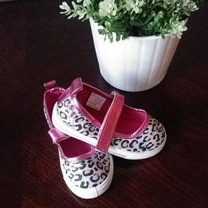 Leopard print Sneakers Girls Shiny Silver